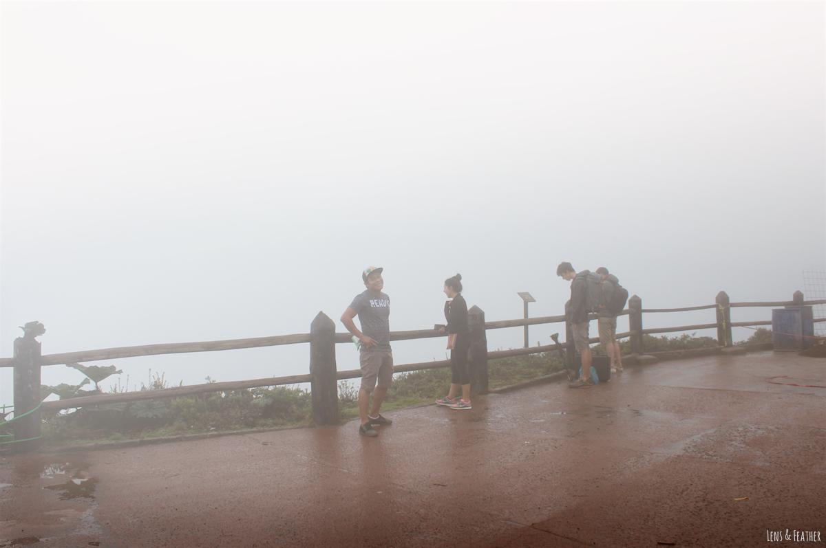 Aussichtsplattform am Vulkan Poas Costa Rica
