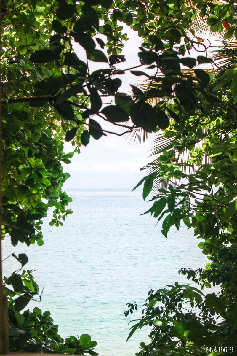 Ausblick auf das Meer im Manuel Antonio Nationalpark