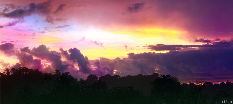 Sonnenuntergang im Corcovado Nationalpark