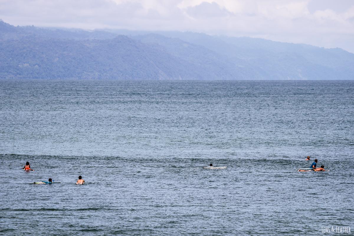 Surfer an der Playa Pan Dulce