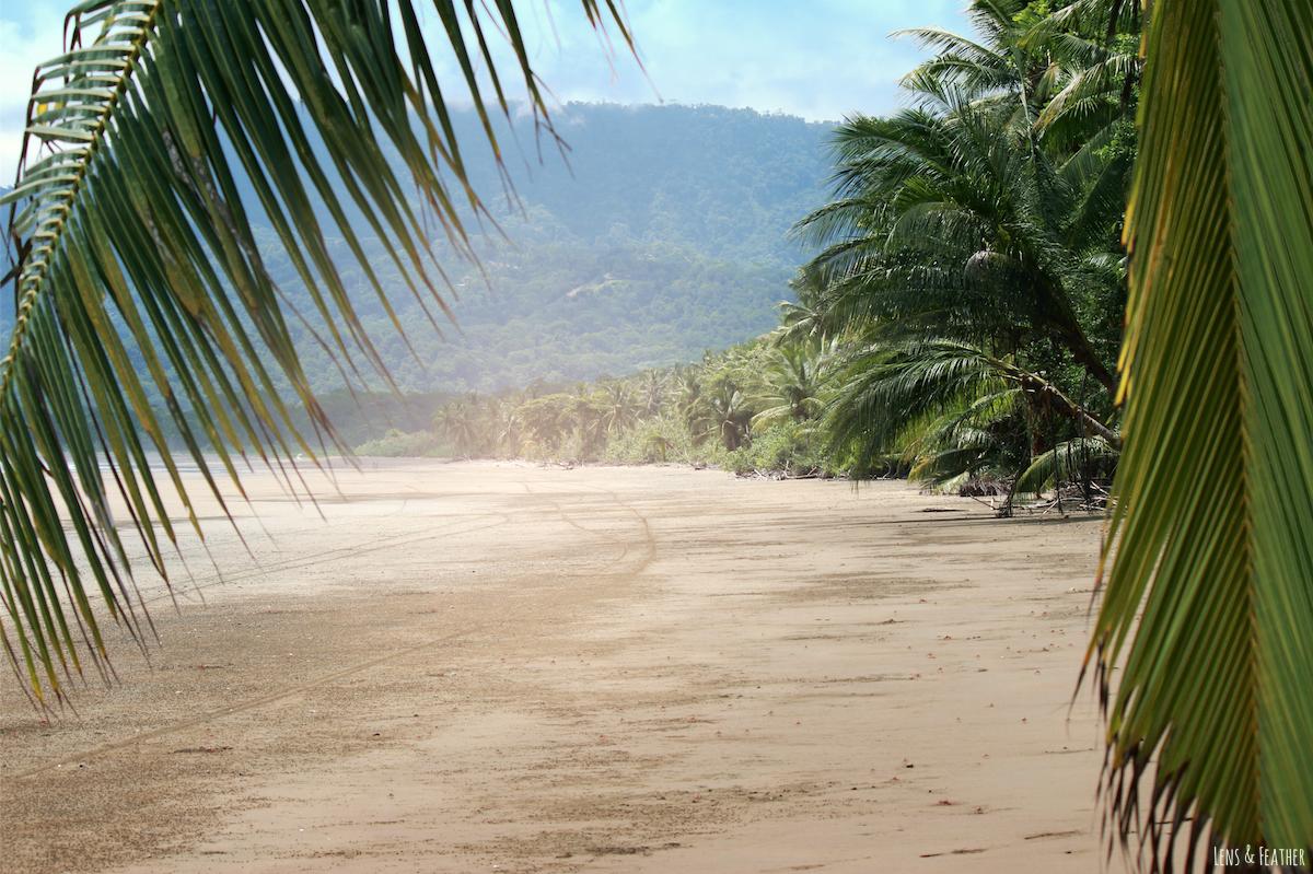 Einsamer Strand in Uvita Costa Rica
