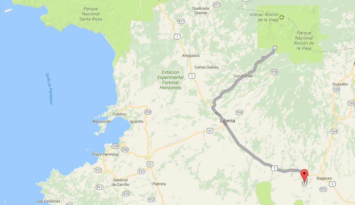 Von Rincon de la Vieja nach Llanos de Cortes