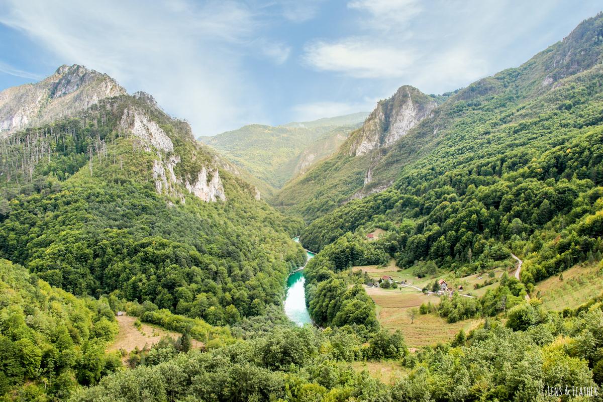Ausblick von der Tara Brücke Montenegro