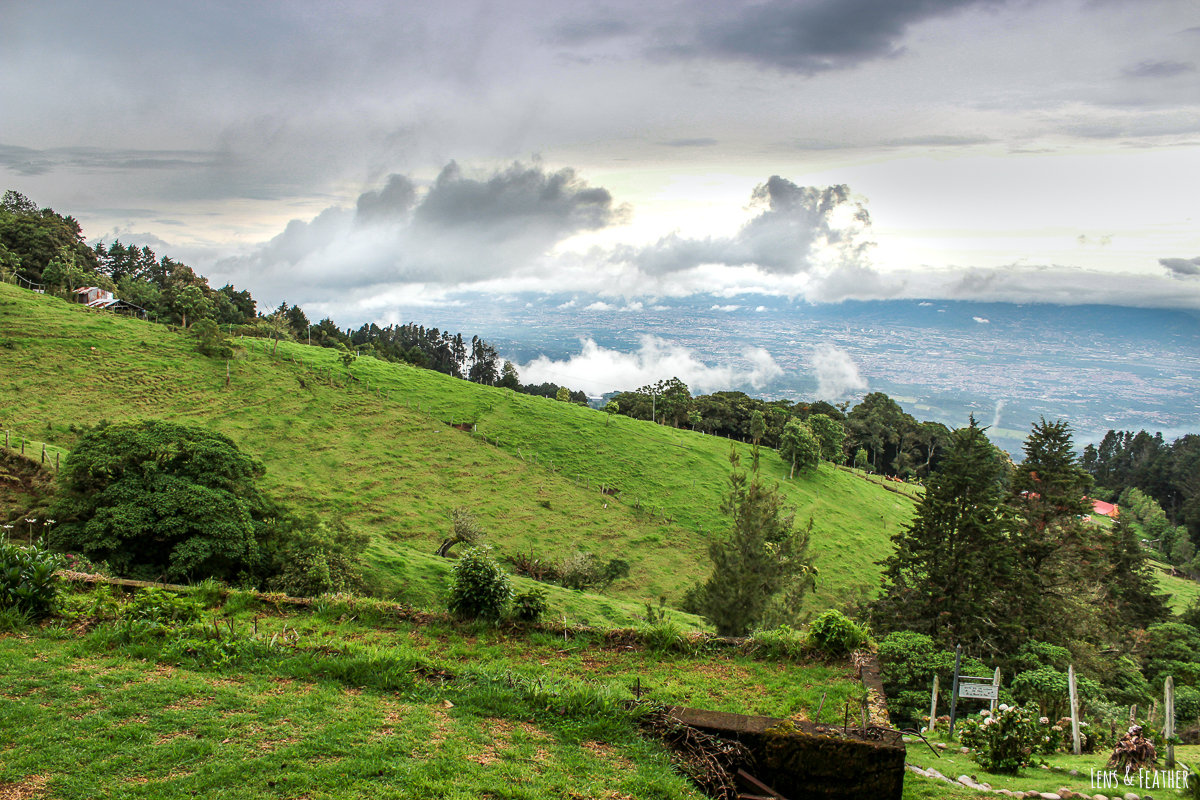 Aussicht Valle über das Valle Central