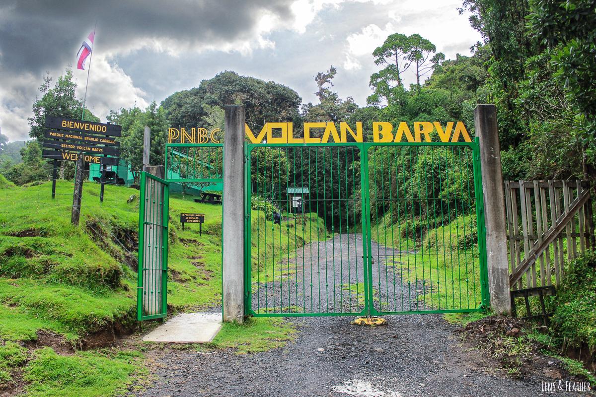 Eingang zum Vulkan Barva