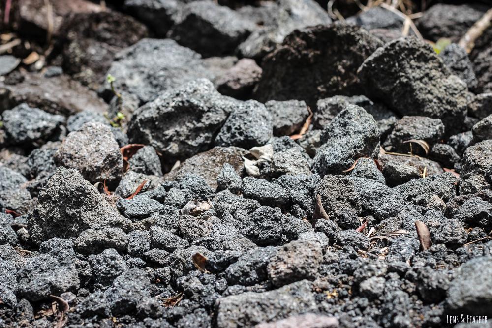 Weg aus Lava