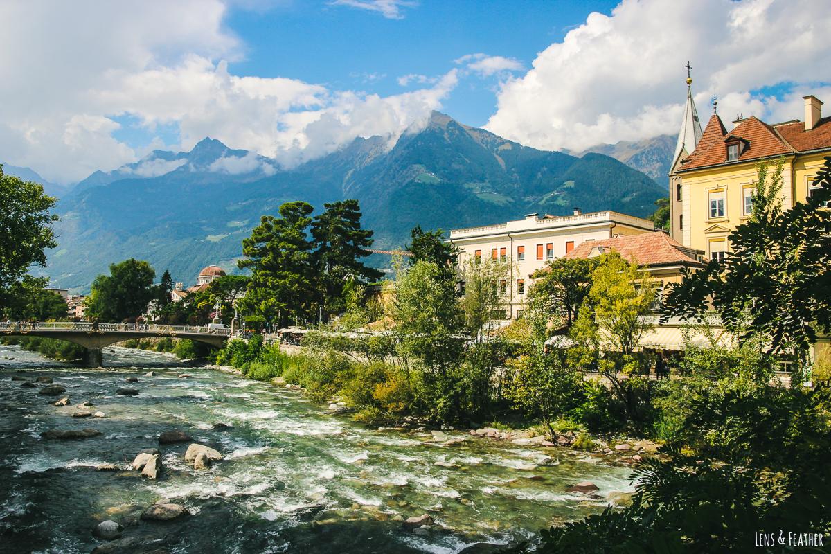 Die Stadt Meran in Südtirol